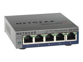 NETGEAR PLUS SWITCH  5xGbE / mngt. via PC utility / monitoring via WEB