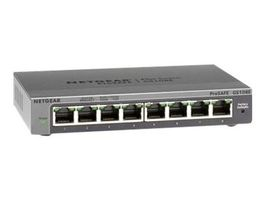 NETGEAR PLUS SWITCH 8xGbE / mngt. via PC utility / VLANs / IGMP / Rate Limiting