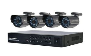EVOLVEO Detective S4CIH7 / 4 x CCTV kamera / RJ45 / USB / VGA+HDMI / Day/Night / In/0utdoor