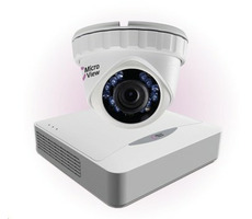 MicroView MVA-BUNDLE-002 / Mini IR Dome Analog 720 TVL / 8-channel recorder / 1TB hard drive / bílá