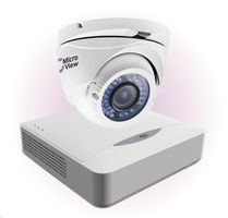 MicroView MVA-BUNDLE-003 / IR Dome Analog 720 TVL / 8-channel recorder / 1TB hard drive / bílá