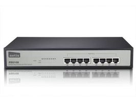 NETIS PE6108 / 8x LAN / 8xPOE 10/100Mbps / POE 8port switch / rack kovový / 124W