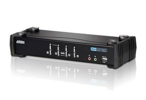 ATEN CS1764A / 4-Port DVI USB 2.0 KVMP Switch / 4x DVI-D kabely / 2-port Hub / Audio