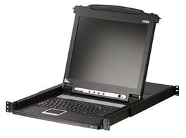 "ATEN CL1008M / KVM 8 port / LCD 17"" + keyboard + touchpad PS-2 / 19"""