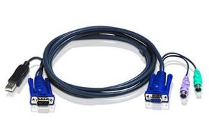 ATEN KVM Kabel SVGA+PS/2+USB / 3m