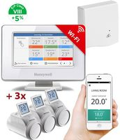 Honeywell Evohome Starter Set CZ / Evohome Touch WiFi + 3x termohlavice + BDR91 / +5% ErP 8