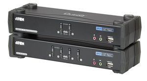 ATEN CS-1782A / 4-port KVME USB / ethernet+usb hub / audio / 2-port DVI KVMP USB / usb hub / audio 7.1 / kabely / 3D