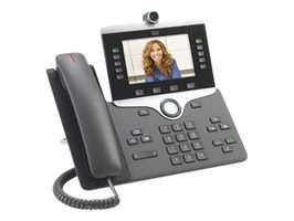 Cisco IP Phone 8845 (určeno pro Cisco UC Manager) černá / IP video telefon / kamera / Bluetooth / SIP/ SDP / 5 řadků