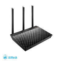 ASUS RT-AC66U B1 / MIMO Router AC1750 / 2.4GHz - 300Mbps / 5GHz - 433Mbps / WAN + 4x LAN / USB 2.0 + USB 3.0