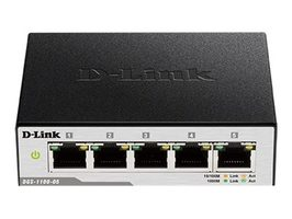 D-Link DGS-1100-05E / 5-Port Gigabit Smart Switch / VLAN / QoS
