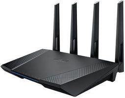 ASUS RT-AC87U / MIMO Router AC2400 / 2.4GHz - 600Mbps / 5GHz - 1734Mbps / GWAN + 4x GLAN / USB 3.0 + USB 2.0