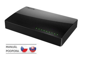 Tenda SG108 8-Port Gigabit Desktop Ethernet Switch / IEEE  802.3 / 802.3u / 802.3ab / Fan-less