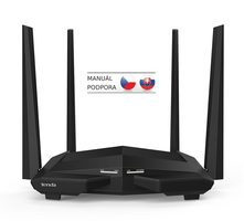 Tenda AC10 / Wireless AC Router / 802.11 ac / 2.4GHz 300 Mbps / 5GHz 900 Mbps / 1x GWAN / 3x GLAN