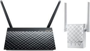 ASUS AC750 kit / MIMO Router RT-AC51U+ RP-AC51 / 2.4GHz - 300Mbps / 5GHz - 433Mbps / WAN + 4x LAN / USB 2.0