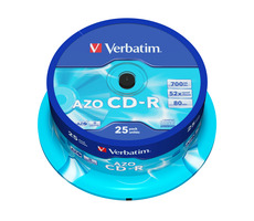 Verbatim CD-R AZO 700MB spindle 25 ks / 52x