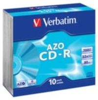 Verbatim 10ks CD-R 700MB AZO 52× / Crystal / SlimCase