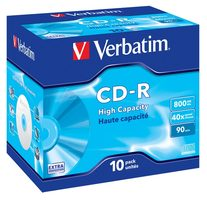 VERBATIM CD-R90 800MB EP/DL/ 40x/ 90min/ jewel/ 10pack