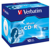 Verbatim 10ks CD-R 700MB Live it! 40x  / JewelCase