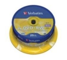 Verbatim 25ks DVD+RW 4.7GB 4x / Spindle