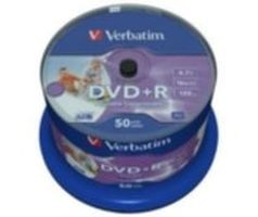 Verbatim 50ks DVD+R 4.7GB 16x / Wide Injekt Printable / Spindl