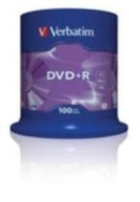Verbatim 100ks DVD+R 4.7GB 16x / Spindl