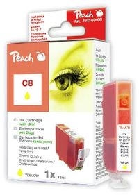 PEACH kompatibilní cartridge Canon CLI-8Y, Yellow, 14 ml