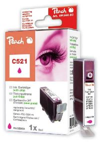 PEACH kompatibilní cartridge Canon CLI-521M, Magenta, 10 ml