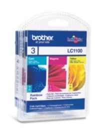 Brother LC-1100 RBWBP originální cartridge / DCP-185C, DCP-585CW / 3x 325 stran / MultiPack
