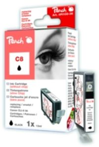 Peach C8 (CLI-8) alternativní cartridge bez chipu / 13 ml / černá