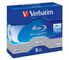 Verbatim 5ks Blu-Ray BD-R / 25GB / 6x / Jewel