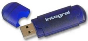 Integral EVO 4GB / Flash Disk / USB 2.0 / modrý