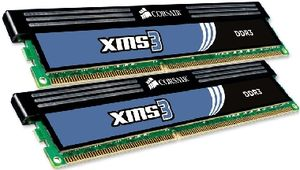 Corsair XMS3 4GB DDR3 1600MHz / 2x2GB KIT / CL9 / 1.65V / XMP