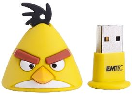 Emtec A102 4GB Animals / Angry Birds / Flash Disk / USB 2.0 / Yellow Bird