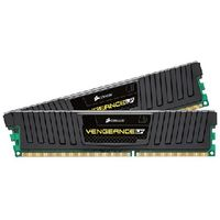 CORSAIR VENGEANCE BLACK / 16GB / DDR3 1600MHz / 2x8GB KIT / CL10-10-10-27 / 1.5V / Low Profile