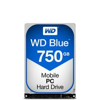 "WD Blue 750GB / HDD / 2.5"" SATA III / 5 400 rpm / 16MB cache / 7mm / 2y"