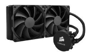 Corsair Hydro H110 / 2x 140 mm / Hydraulic Bearing / 35 dB @ 1500 RPM / 94 CFM / Intel + AMD