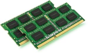 Kingston 8GB (2x 4GB) DDR3 1333MHz / CL9 / SO-DIMM / 1.5V / SR X8 / Non-ECC / Un-Registered