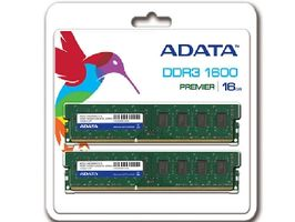 ADATA 16GB DDR3 1600MHz / KIT 2x 8GB / CL11 / DIMM / RETAIL