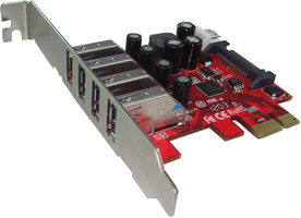 Kouwell UB-120LN / PCI-E karta 4x USB 3.0 port interní / Low profile