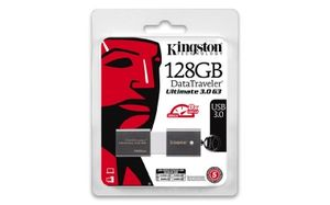 Kingston DataTraveler Ultimate G3 128GB / Flash Disk / USB 3.0 / šedá