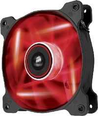 Corsair SP120 LED Red /  120 mm / Hydraulic Bearing / 26 dB @ 1650 RPM / 97.3 m3h / 3-pin