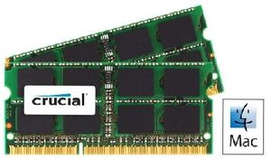 CRUCIAL pro Apple/Mac 16GB / 2x8GB / DDR3 SO-DIMM / 1333MHz / PC3-10600 / CL9 / 1.35V/1.50V / Dual Voltage