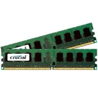 Crucial 2GB / 2x1GB / DDR2 / 800MHz / PC2-6400 / CL6 / 1.80V