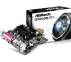 ASRock Q1900B-ITX / Intel Quad-Core J1900 2 GHz / 2xDDR3 / VGA+HDMI / Intel HD / SATA II / mini-ITX