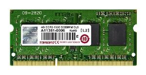 Transcend JetRam 4GB SO-DIMM DDR3 1333MHz / 512Mx8 / CL9