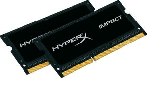 HyperX Impact 16GB DDR3L 1600MHz / 2x 8GB KIT / CL9 / 1.35V/1.5V / SO-DIMM