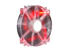 Cooler Master MegaFlo 200 LED Red / 200 mm / Sleeve Bearing / 19 dB @ 700 RPM / 110 CFM / 3-pin