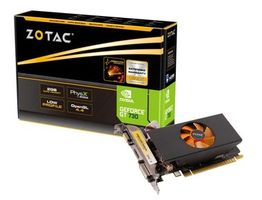ZOTAC GeForce GT 730 Low Profile / GT730 902MHz / 2GB GDDR5 5010MHz / 64 Bit / HDMI / DVI / VGA