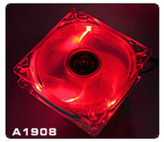 THERMALTAKE A1908 Thunderblade Red / Větráček 80x80x25mm / 21dB