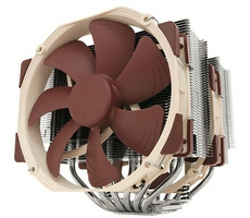 Noctua NH-D15 / 2x 140 mm / SSO2 Bearing / 24.6 dB @ 1500 RPM / 140.2 m3h / Intel + AMD